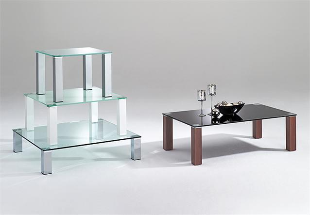 couchtisch callas tisch in glas wei und metall alu 60x60 h 42 ebay. Black Bedroom Furniture Sets. Home Design Ideas