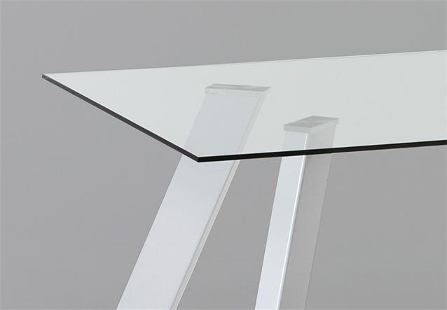 Esstisch Spider ~ Esstisch Spider Tisch Glastisch Esszimmertisch Klarglas und Metall weiß glänz