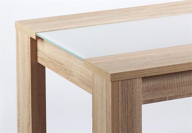 esstisch leon esszimmer tisch eiche s gerau glas wei. Black Bedroom Furniture Sets. Home Design Ideas