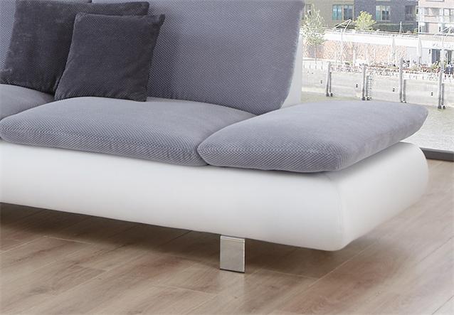 Sofa morado polsterm bel in wei grau und chrom 3 bielefeld for Sofa bielefeld