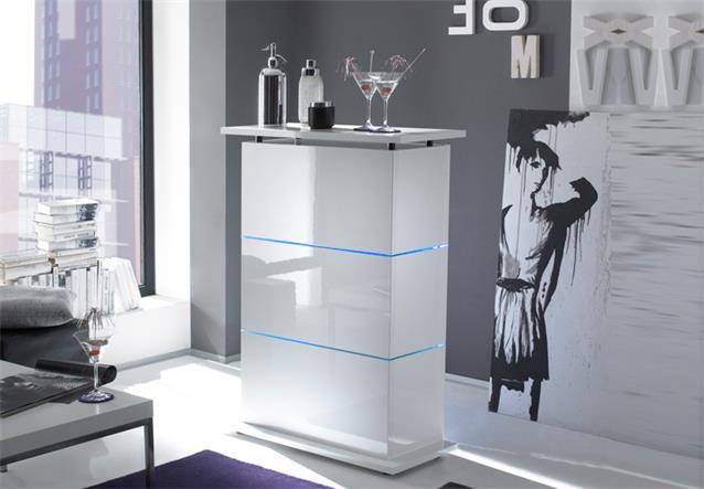 bartresen primo bar tisch standtisch in wei echt hochglanz lackiert glasb den ebay. Black Bedroom Furniture Sets. Home Design Ideas