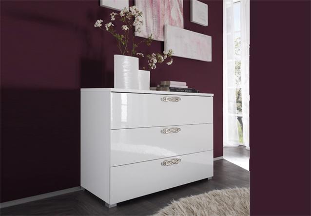 kommode ambrosia schubkastenkommode schlafzimmer hochglanz. Black Bedroom Furniture Sets. Home Design Ideas