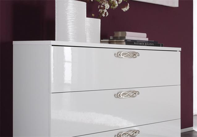 kommode ambrosia schubkastenkommode schlafzimmer hochglanz weiss lackiert ebay. Black Bedroom Furniture Sets. Home Design Ideas
