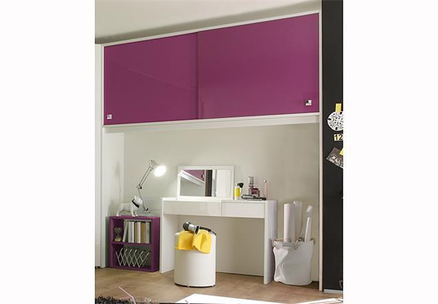 jugendzimmer ponte set schreibtisch regal bettbr cke lila. Black Bedroom Furniture Sets. Home Design Ideas