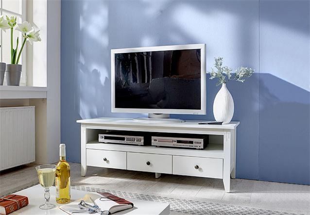 sideboard nuko kommode in birke teil massiv wei lackiert neu ebay. Black Bedroom Furniture Sets. Home Design Ideas