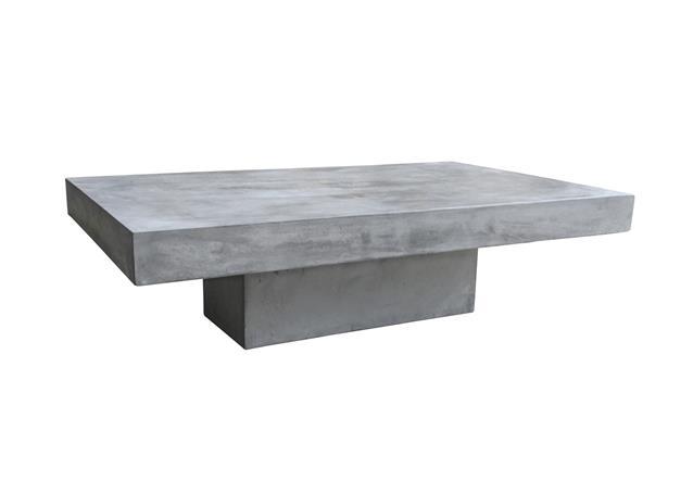 Couchtisch 120×60 cm Cement Tischplatte und Rahmen aus