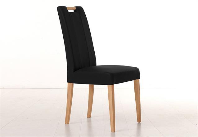 stuhl sam 2 polsterstuhl esszimmerstuhl in schwarz und buche natur holzgriff ebay. Black Bedroom Furniture Sets. Home Design Ideas