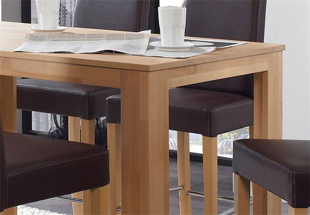 bistro set dalor chalo bartisch tisch barstuhl stuhl buche natur braun chrom ebay. Black Bedroom Furniture Sets. Home Design Ideas