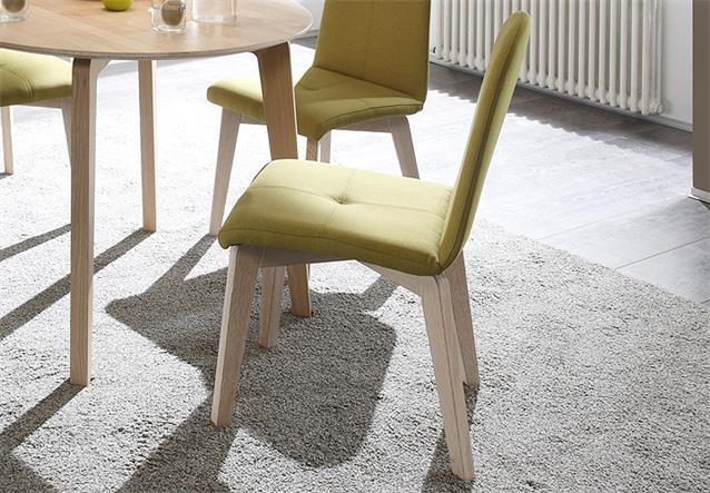 stuhl manon 2er set esszimmerstuhl bezug lemon gestell eiche sonoma massiv ebay. Black Bedroom Furniture Sets. Home Design Ideas