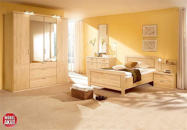 schlafzimmer set novio birke carat massiv neu ebay. Black Bedroom Furniture Sets. Home Design Ideas