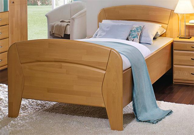 bett vanessa plus seniorenbett buche rubin teilmassiv 100x200 cm ebay. Black Bedroom Furniture Sets. Home Design Ideas