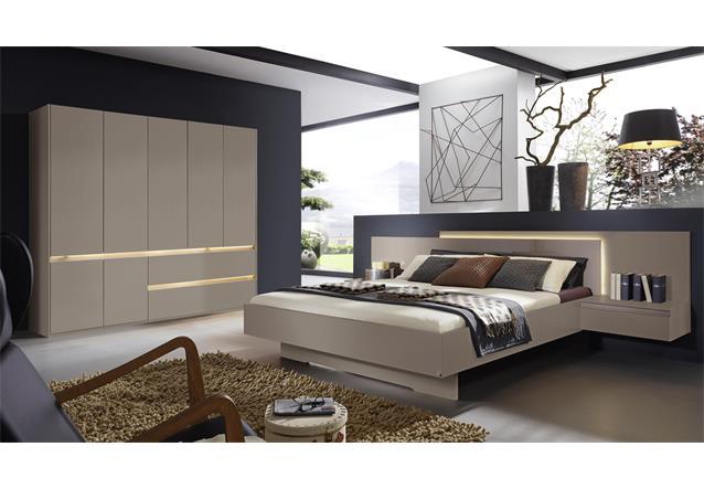 schlafzimmer atami bettanlage kleiderschrank von rauch in fango mit beleuchtung ebay. Black Bedroom Furniture Sets. Home Design Ideas