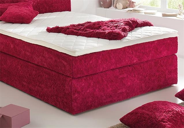 Boxspringbett BX430 Bett Schlafzimmerbett Zottel Plu00fcsch in ...