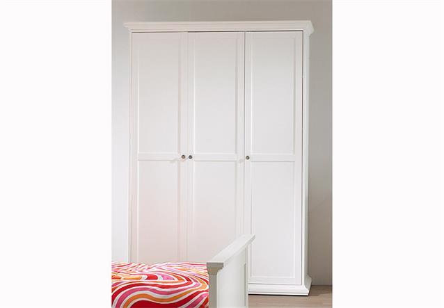 kleiderschrank 2 paris schlafzimmer jugendzimmer in wei. Black Bedroom Furniture Sets. Home Design Ideas