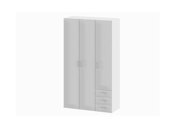kleiderschrank suros schrank wei hochglanz 3 t ren 3. Black Bedroom Furniture Sets. Home Design Ideas
