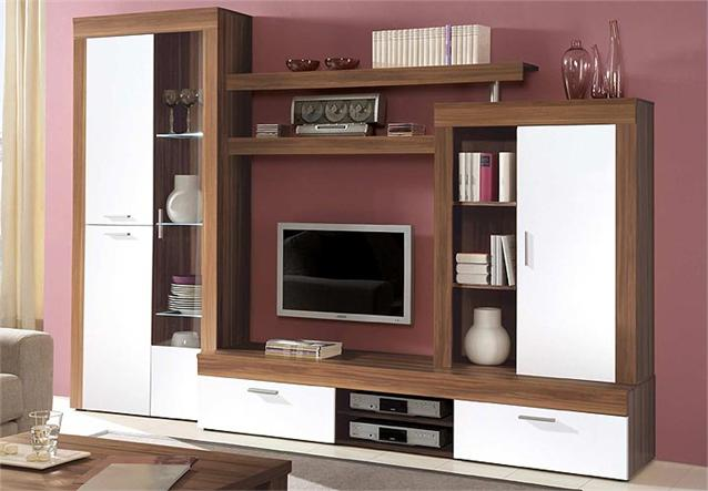 tv board formo lowboard unterteil kommode in nussbaum wei glanz neu ebay