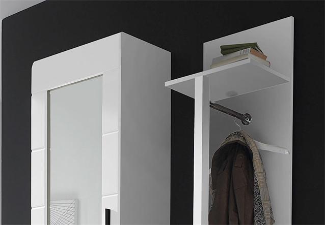 garderoben set anoma garderobe schrank kommode wei wei hochglanz mit spiegel ebay. Black Bedroom Furniture Sets. Home Design Ideas