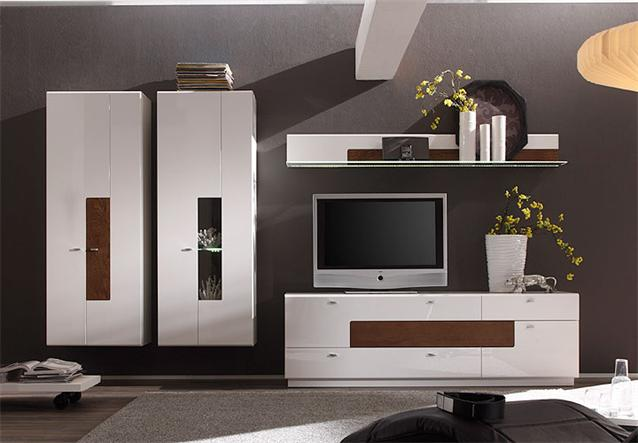 wohnzimmer pink macht eiche modern: JOLIE ANBAUWAND WOHNZIMMER WEIß ...