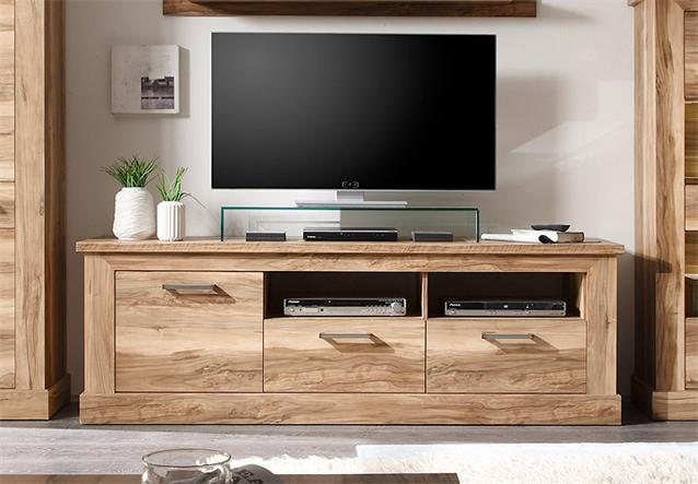 tv board 1 montreal lowboard tv unterteil phonom bel in nussbaum satin ebay. Black Bedroom Furniture Sets. Home Design Ideas