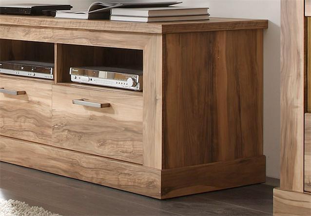 wohnwand 1 montreal anbauwand wohnkombi wohnzimmer in nussbaum satin ebay. Black Bedroom Furniture Sets. Home Design Ideas