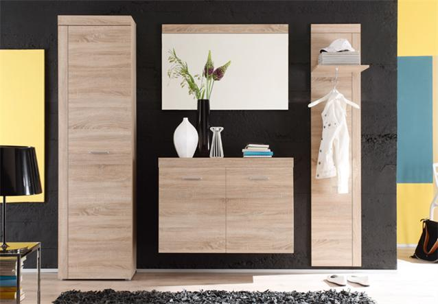 garderobenschrank road hochschrank in sonoma eiche s gerau hell ebay. Black Bedroom Furniture Sets. Home Design Ideas