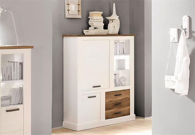 highboard 1 toronto schrank in anderson pinie hell wei. Black Bedroom Furniture Sets. Home Design Ideas