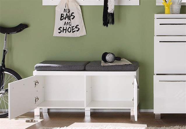 garderoben set derby flurm bel dielenm bel in wei hochglanz tiefzieh 4 teilig ebay. Black Bedroom Furniture Sets. Home Design Ideas
