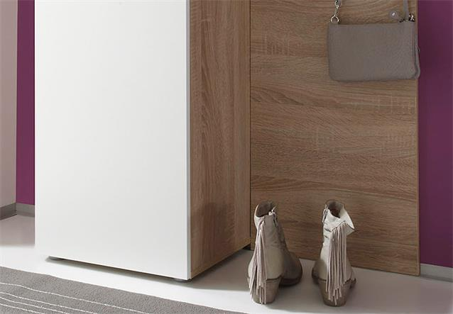 garderoben set easy dielenm bel flurm bel in eiche s gerau hell wei 3 teilig ebay. Black Bedroom Furniture Sets. Home Design Ideas