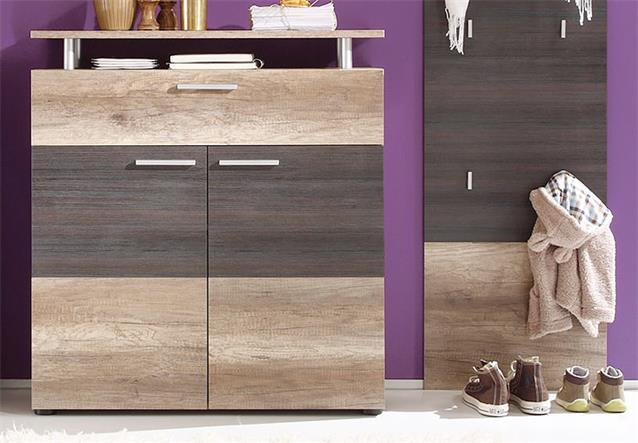 garderoben set polo flurm bel dielenm bel eiche monument oak touchwood 3 teilig ebay. Black Bedroom Furniture Sets. Home Design Ideas