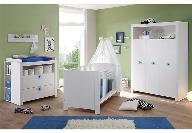 babyzimmer set olivia kinderzimmer babym bel komplett in wei 3 teilig ebay. Black Bedroom Furniture Sets. Home Design Ideas