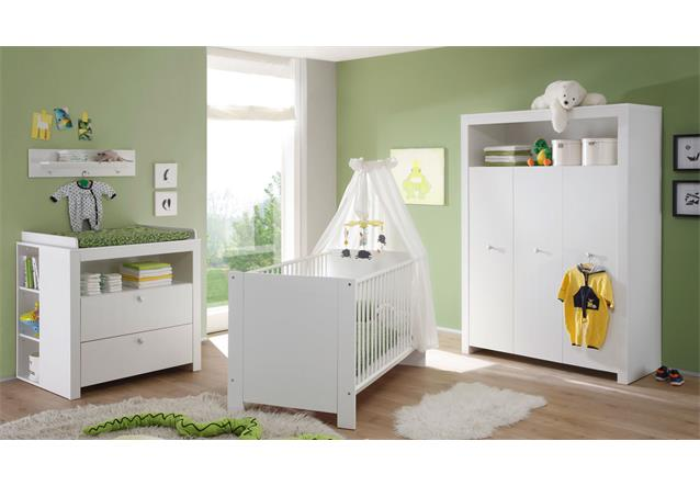 babyzimmer baby set 5 teilig olivia in wei wickelkommode sprossenbett ebay. Black Bedroom Furniture Sets. Home Design Ideas