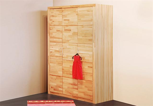 kleiderschrank berlin schrank kinderzimmerschrank kern buche massiv 140 cm ebay. Black Bedroom Furniture Sets. Home Design Ideas