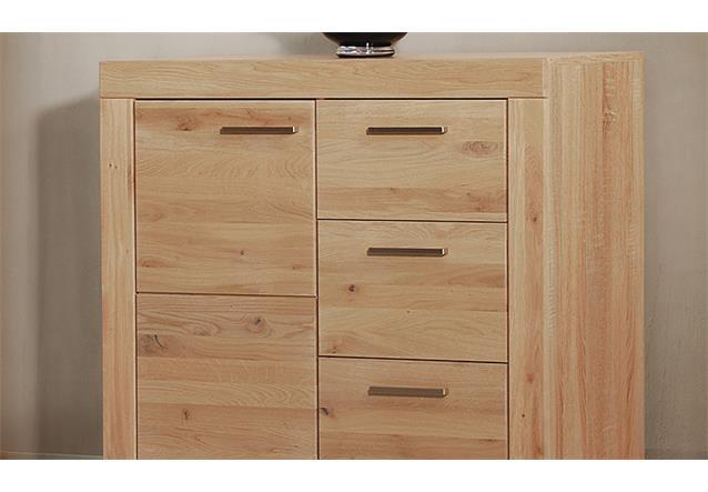 kommode 1 berlin sideboard anrichte in wild eiche massiv sonoma b 91 cm ebay. Black Bedroom Furniture Sets. Home Design Ideas