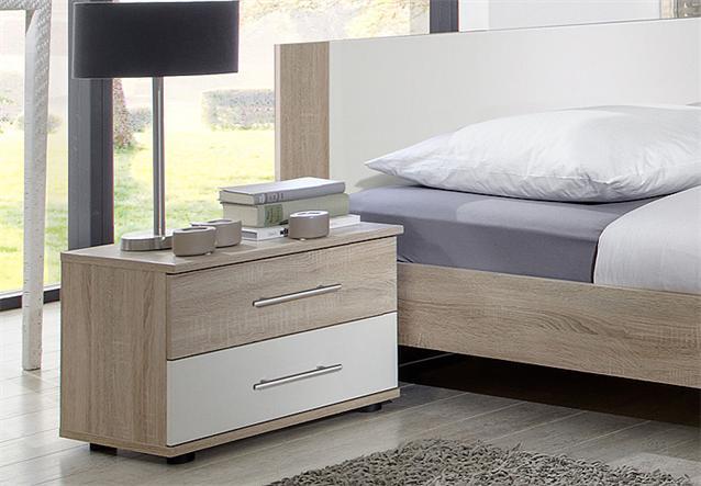 schlafzimmer set franziska bett schrank nako sonoma eiche s gerau und wei 4 tlg ebay. Black Bedroom Furniture Sets. Home Design Ideas