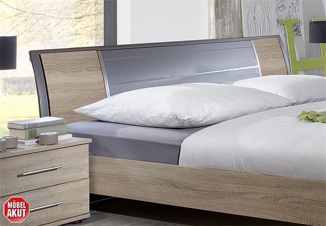 futonbett aston bett in sonoma eiche s gerau alu 160x200 ebay. Black Bedroom Furniture Sets. Home Design Ideas