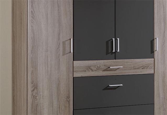 kleiderschrank click schrank in montana eiche und lava 180 cm ebay. Black Bedroom Furniture Sets. Home Design Ideas
