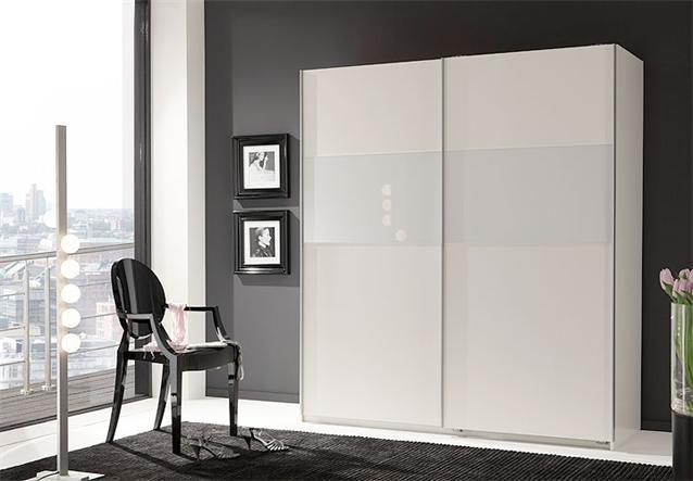 schwebet renschrank zelda kleiderschrank in wei glas wei 179 cm. Black Bedroom Furniture Sets. Home Design Ideas