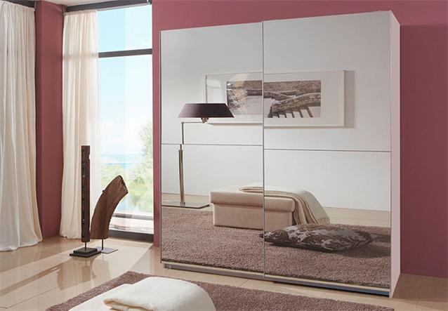 schwebet renschrank lesca kleiderschrank in wei mit. Black Bedroom Furniture Sets. Home Design Ideas