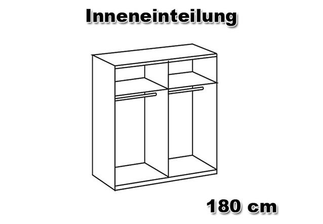 schwebet renschrank lesca kleiderschrank in wei mit spiegelfront 135 cm breit ebay. Black Bedroom Furniture Sets. Home Design Ideas