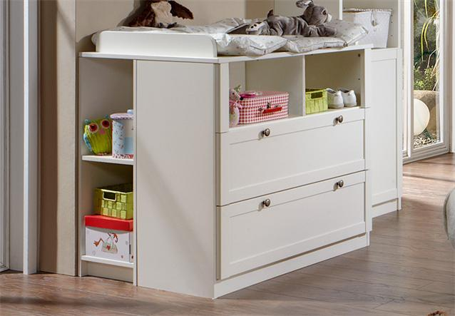 wickelkommode 2 filou wickeltisch babyzimmer in alpinwei dekor ebay. Black Bedroom Furniture Sets. Home Design Ideas