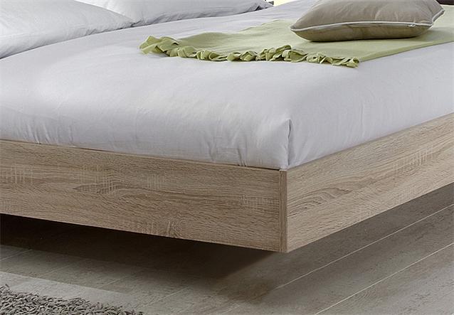 futonbett franziska bett bettgestell sonoma eiche s gerau und wei 160x200 cm ebay. Black Bedroom Furniture Sets. Home Design Ideas
