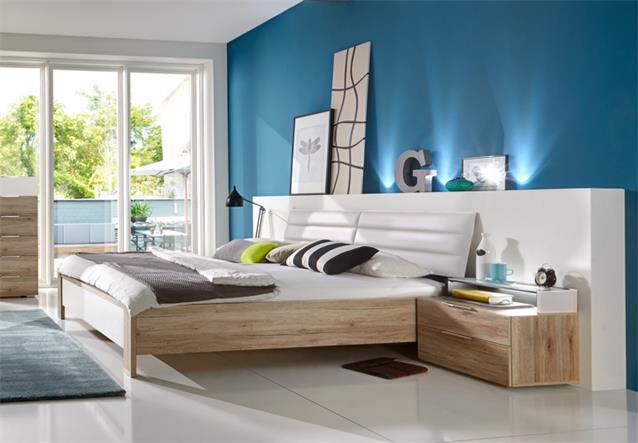 Schlafzimmer diva schwebet renschrank 300cm bett nachttische san remo eiche wei ebay - Schlafzimmer bei ebay ...