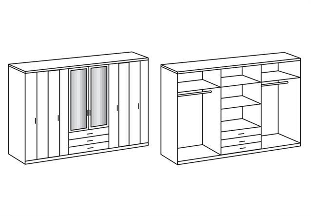 kleiderschrank logo faltt renschrank dreht renschrank in eiche s gerau 270 cm. Black Bedroom Furniture Sets. Home Design Ideas