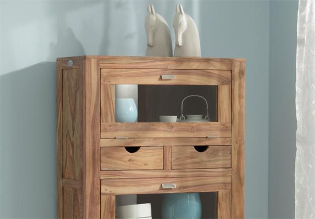 brotschrank yoga sheesham massivholz buffet highboard landhausstil wolf m bel ebay. Black Bedroom Furniture Sets. Home Design Ideas