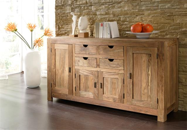 sideboard yoga massivholz sheesham schrank wolf m bel landhaus. Black Bedroom Furniture Sets. Home Design Ideas