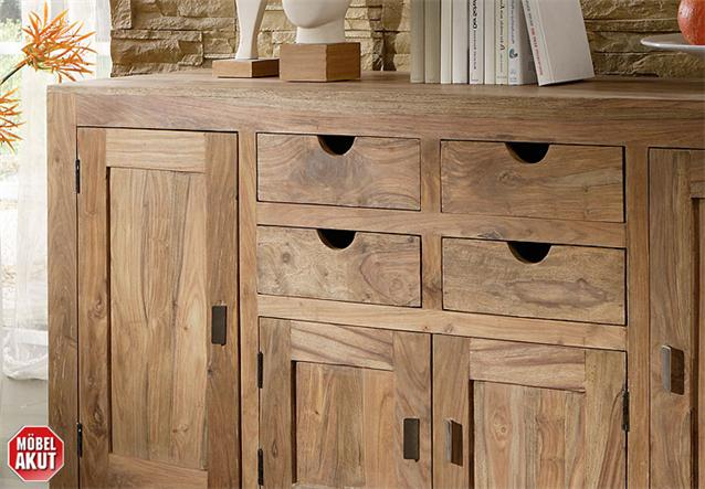 sideboard khan kommode anrichte schrank massiv neu ebay. Black Bedroom Furniture Sets. Home Design Ideas