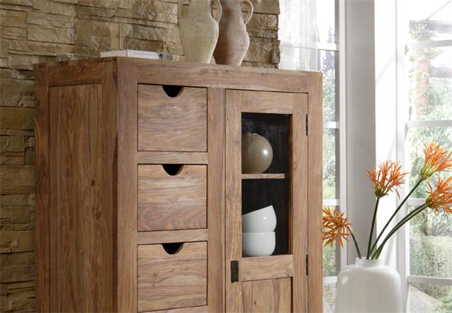 schrank brotschrank yoga sheesham massivholz landhausstil von wolf m bel ebay. Black Bedroom Furniture Sets. Home Design Ideas