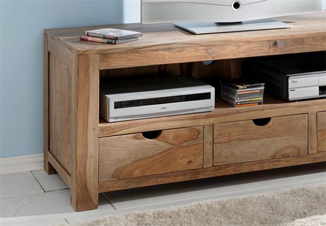 longboard yoga tv board sheesham massivholz im landhausstil von wolf m bel ebay. Black Bedroom Furniture Sets. Home Design Ideas
