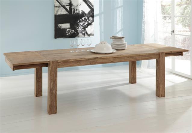 massivholz esstisch yoga sheesham holz tisch von wolf m bel mit vorkopfauszug ebay. Black Bedroom Furniture Sets. Home Design Ideas