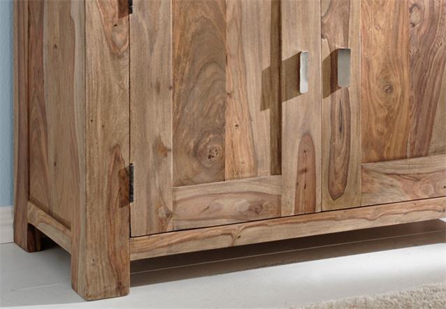 kommode yoga sideboard sheesham massivholz landhausstil von wolf m bel ebay. Black Bedroom Furniture Sets. Home Design Ideas